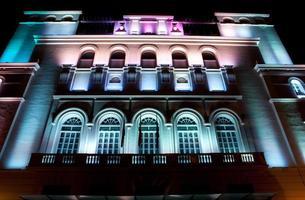 Gebäude LED-Lichter bauen foto