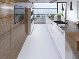 Schönheit gestaltete moderne Küche foto