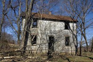 verlassenes Haus ländliches Amerika foto
