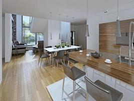 Küche mit Essbereich foto