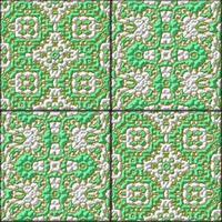 Retro grün glasierte genarierte Fliesen - Textur foto