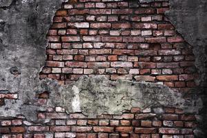 alter Grunge Backsteinmauer Hintergrund foto
