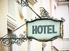 Hotelschild foto