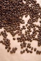 Hintergrund des Kaffees auf einer Papiernahaufnahme foto