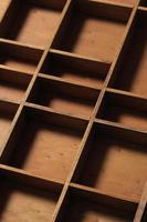 Schubladenholzfächer leer foto