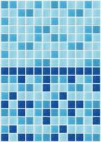 Fliesenmosaik quadratische blaue Textur Hintergrund dekoriert Glitzer foto
