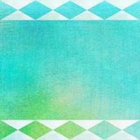 geometrische Drucke auf aquarellierter Textur - abstrakter Hintergrund