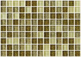 Fliesenmosaikquadrat verziert glittergoldener Texturhintergrund