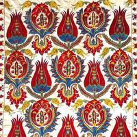 alter bunter arabischer Teppich Vintage