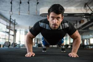 Athlet auf dem Training foto
