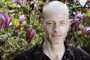 Wasserstrahl Mann
