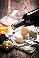 Zusammensetzung des Käses foto
