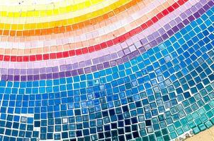 Mosaik auf dem Boden gefliest foto