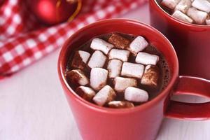 Kakao mit Marshamallow foto