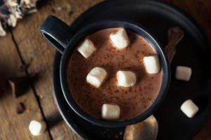 hausgemachte warme heiße Schokolade