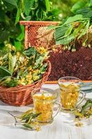 Tee mit Limette und Honig foto