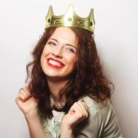 Frau in der Krone foto
