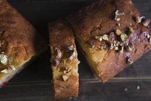 Kuchen mit trockenen Früchten foto
