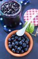 Marmelade aus schwarzer Johannisbeere foto