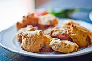 Kekse, Cornflakes und Rosinen foto