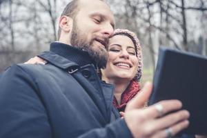 Paar verliebt Selfie foto