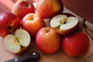 roter Äpfel Hintergrund foto