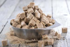 brauner Zucker (Nahaufnahme) foto