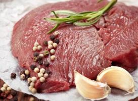 rohes Steak foto