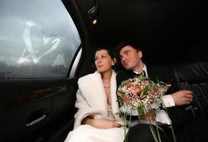 frisch verheiratetes Paar foto