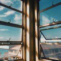 klares Glasfenster foto