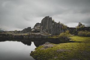 Landschaftsfotografie des Berges foto