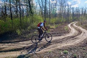 Radfahren an einem sonnigen Tag