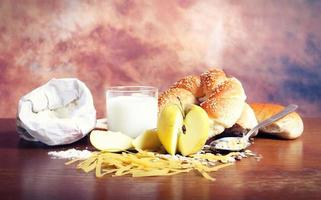 gesunde Bio-Mahlzeit foto