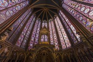 la sainte chapelle, paris, frankreich foto