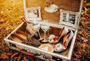 Fall mit Hochzeit Zubehör foto