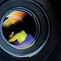 Gegenlichtblende große detaillierte Makro-Zoom-Nahaufnahme, schwarz, grün, blau foto