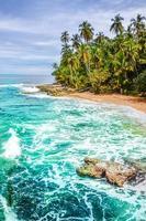 wilder karibischer Strand von Costa Rica - Manzanillo foto