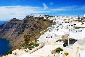 die Häuser auf der Insel Santorini, Griechenland foto