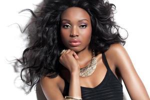 schöne afrikanische Frau foto