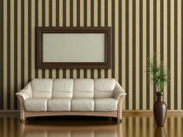 Innenraum mit Sofa foto