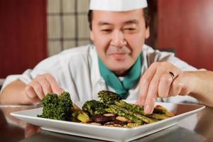 gebratenes Gemüse vom Küchenchef gekocht foto