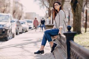 schöne junge Mode Mädchen foto
