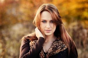 Herbstmädchen foto