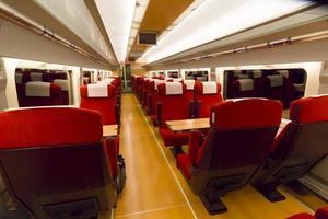 Innenraum eines Zugwagens foto