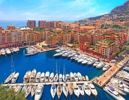 Blick über den Hafen von Monaco, Côte d'azur foto