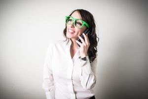 schöne junge Geschäftsfrau foto