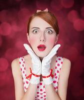 schöne rothaarige Frauen. foto