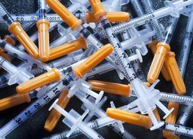Spritzen für Diabetes foto