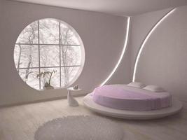 Illustration des Schlafzimmerinnenraums foto