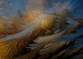 goldene und blaue Wellen